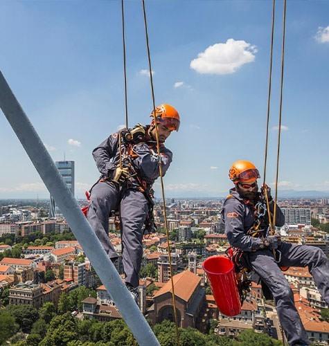 Услуги промышленного альпинизма в Казани