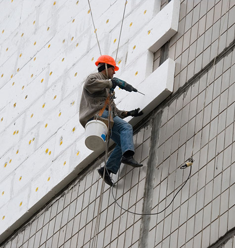 Утепление фасада многоквартирного дома в Казани